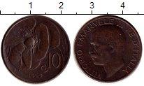 Изображение Монеты Италия 10 сентесим 1929 Бронза XF
