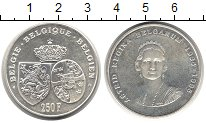 Изображение Монеты Бельгия 250 франков 1995 Серебро UNC