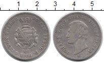 Изображение Монеты Германия Саксония 1/3 талера 1860 Серебро XF-