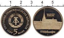 Изображение Монеты ГДР 5 марок 1989 Медно-никель Proof-