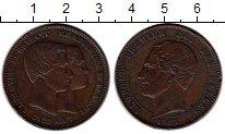 Изображение Монеты Бельгия 10 сантим 1853 Медь XF