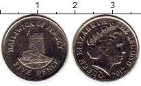 Изображение Монеты Остров Джерси 5 пенсов 2012 Медно-никель UNC-