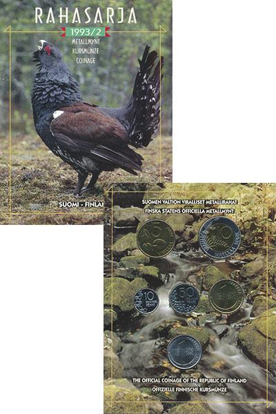 Изображение Подарочные монеты Финляндия Набор 1993 года 1993  UNC В набор входят шесть