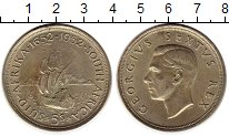 Изображение Монеты ЮАР 5 шиллингов 1952 Серебро XF+