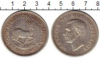 Изображение Монеты ЮАР 5 шиллингов 1947 Серебро XF