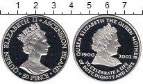 Изображение Монеты Великобритания Аскенсион 50 пенсов 2002 Серебро Proof