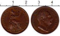 Изображение Монеты Великобритания 1 фартинг 1834 Медь XF+