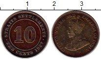 Изображение Монеты Великобритания Стрейтс-Сеттльмент 10 центов 1927 Серебро XF