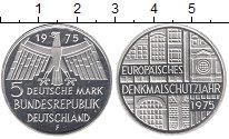 Изображение Мелочь Германия ФРГ 5 марок 1975 Серебро Proof