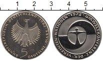 Изображение Мелочь Германия ФРГ 5 марок 1972 Медно-никель Proof