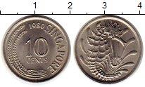 Изображение Монеты Сингапур 10 центов 1980 Медно-никель UNC-