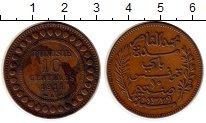 Изображение Монеты Тунис 10 сантим 1911 Бронза XF