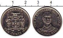 Изображение Монеты Ямайка 10 центов 1992 Медно-никель UNC-
