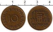 Изображение Монеты Саар 10 франков 1954 Латунь XF