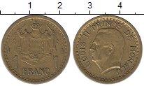 Изображение Монеты Монако 1 франк 0 Латунь VF