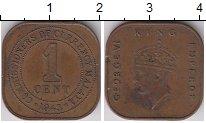 Изображение Монеты Малайя 1 цент 1943 Медь XF