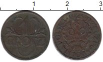 Изображение Монеты Польша 1 грош 1925 Медь VF