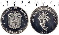 Изображение Монеты Панама 5 бальбоа 1972 Серебро Proof-