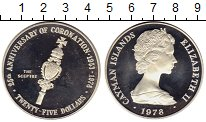 Изображение Монеты Великобритания Каймановы острова 25 долларов 1978 Серебро Proof-