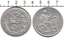 Монета Перу 1 соль Серебро 1934 XF фото