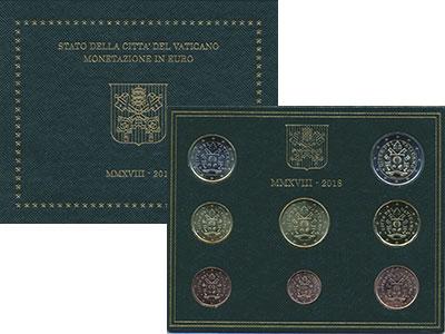 Изображение Подарочные монеты Ватикан Евронабор 2018 Медно-никель UNC Евронабор (набор из