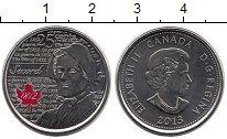 Изображение Монеты Канада 25 центов 2013 Медно-никель UNC