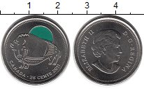 Изображение Монеты Канада 25 центов 2011 Медно-никель UNC
