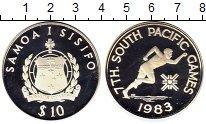Монета Самоа 10 долларов Серебро 1983 Proof- фото