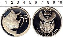 Изображение Монеты ЮАР 50 центов 2003 Серебро Proof