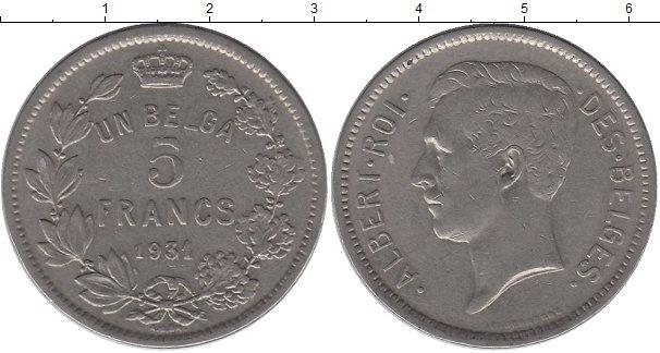 Картинка Монеты Бельгия 5 франков Медно-никель 1931