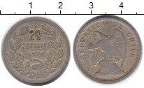 Изображение Монеты Чили 20 сентаво 1924 Медно-никель VF