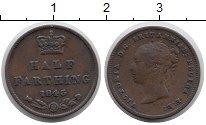 Изображение Монеты Великобритания 1/2 фартинга 1843 Медь XF-