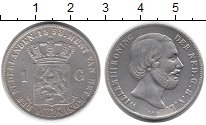 Изображение Монеты Нидерланды 1 гульден 1858 Серебро XF