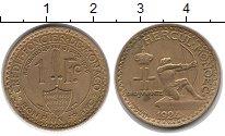 Изображение Монеты Монако 1 франк 1924 Латунь XF
