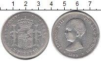 Изображение Монеты Испания 5 песет 1891 Серебро XF-