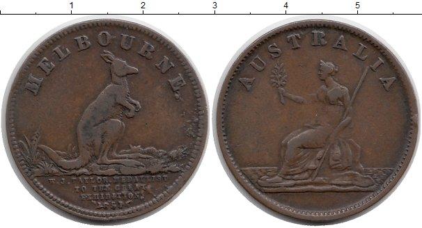 Картинка Монеты Австралия 1/2 пенни Медь 1851