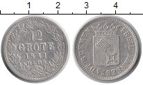 Изображение Монеты Германия Бремен 12 гротен 1841 Серебро VF+