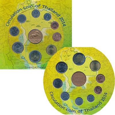 Изображение Подарочные монеты Таиланд Набор 2014 года 2014  UNC Набор из девяти моне