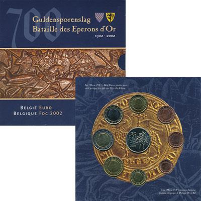 Изображение Подарочные монеты Бельгия Евронабор 2002 года 2002  UNC Набор из восьми моне