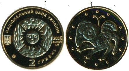 Картинка Подарочные монеты Украина 2 гривны Золото 2006