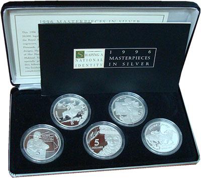 Изображение Подарочные монеты Австралия Становление Австралийского государства 1996 Серебро Proof Подарочный набор пос