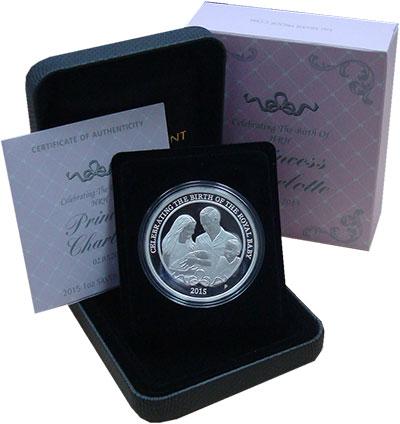 Изображение Монеты Австралия 1 доллар 2015 Серебро Proof Рождение Принцессы Ш