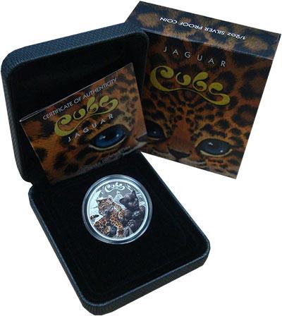 Изображение Подарочные монеты Тувалу 50 центов 2016 Серебро Proof `Серия ``Кошачьи`` -