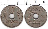 Изображение Монеты Германия Немецкая Африка 10 хеллеров 1909 Медно-никель XF
