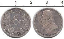 Изображение Монеты ЮАР 6 пенсов 1892 Серебро XF