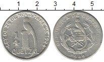 Изображение Монеты Гватемала 1/4 куэталя 1946 Серебро VF