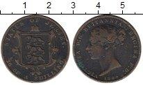 Изображение Монеты Великобритания Остров Джерси 1/26 шиллинга 1844 Медь VF
