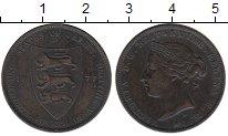 Изображение Монеты Великобритания Остров Джерси 1/24 шиллинга 1877 Бронза XF