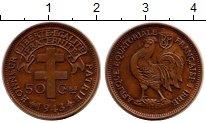 Изображение Монеты Франция Французская Экваториальная Африка 50 сантим 1943 Бронза XF