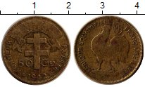 Изображение Монеты Франция Французская Экваториальная Африка 50 сантим 1942 Латунь VF